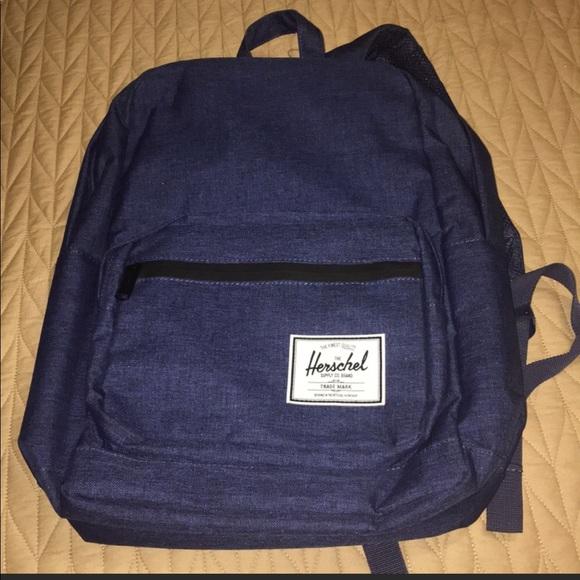 11113ab50604 Herschel Supply Co. large blue denim backpack